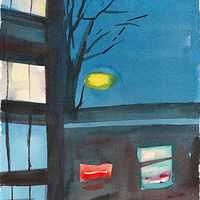 Watercolor Fri., Jan 3 (Outside My Window)  by Mary Hayes