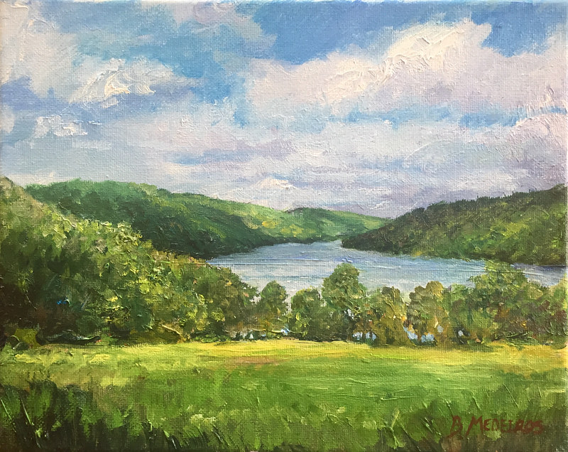 Oil painting Squantz Pond Study by Elizabeth4361 Medeiros