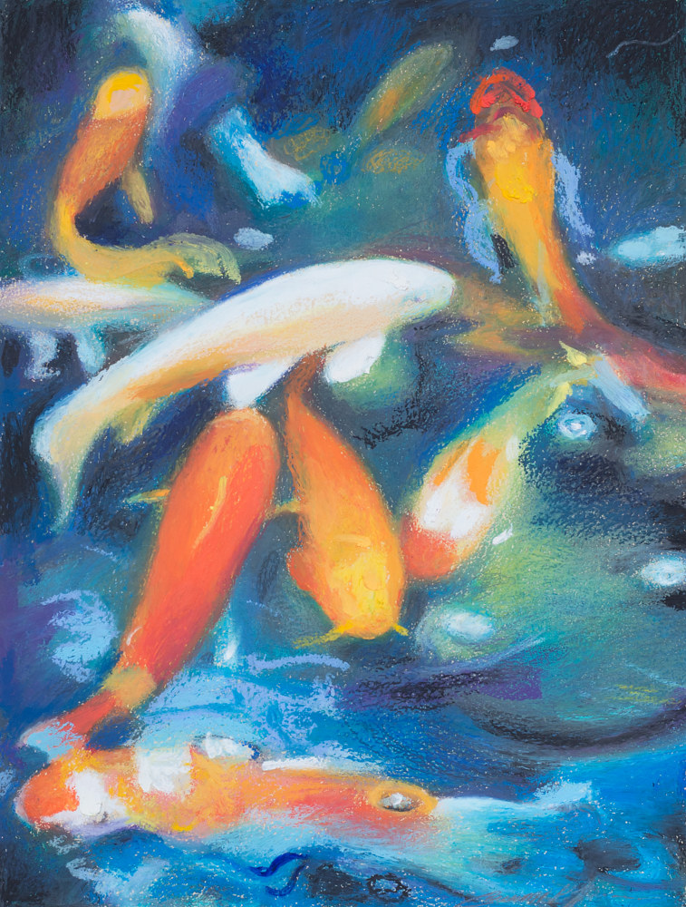 Oil painting Friday Fish I by Raymond Noesen