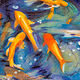 Oil painting Friday Fish III by Raymond Noesen