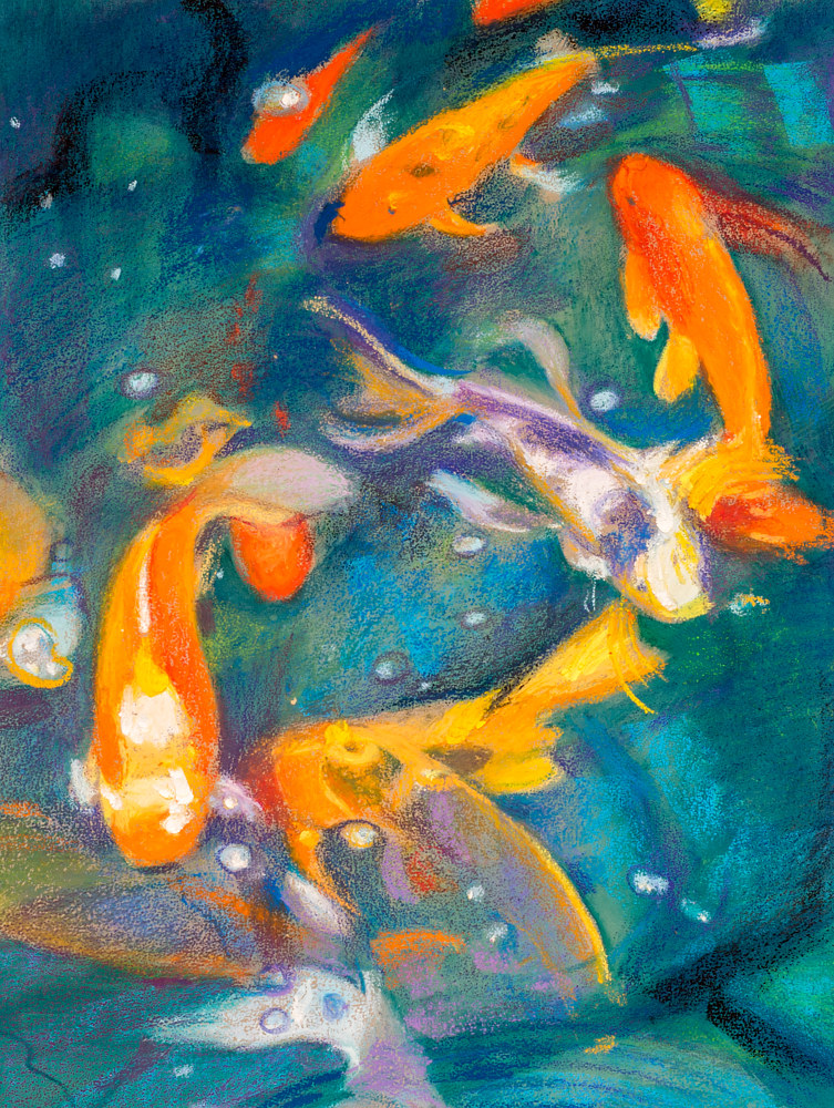 Oil painting Friday Fish V by Raymond Noesen