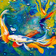 Oil painting Friday Fish VII by Raymond Noesen