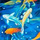 Oil painting Friday Fish IX by Raymond Noesen