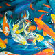 Oil painting Friday Fish XI by Raymond Noesen