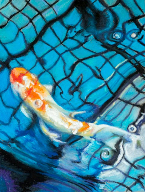 Oil painting Friday Fish XII by Raymond Noesen
