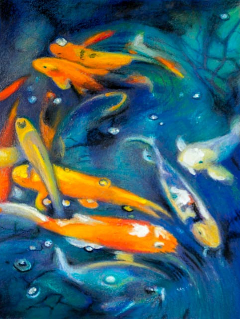 Oil painting Friday Fish XIV by Raymond Noesen
