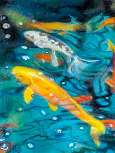 Oil painting Friday Fish XVI by Raymond Noesen