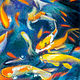Oil painting Friday Fish XXI by Raymond Noesen