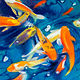 Oil painting Friday Fish XXII by Raymond Noesen