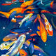 Oil painting Friday Fish XXIV by Raymond Noesen