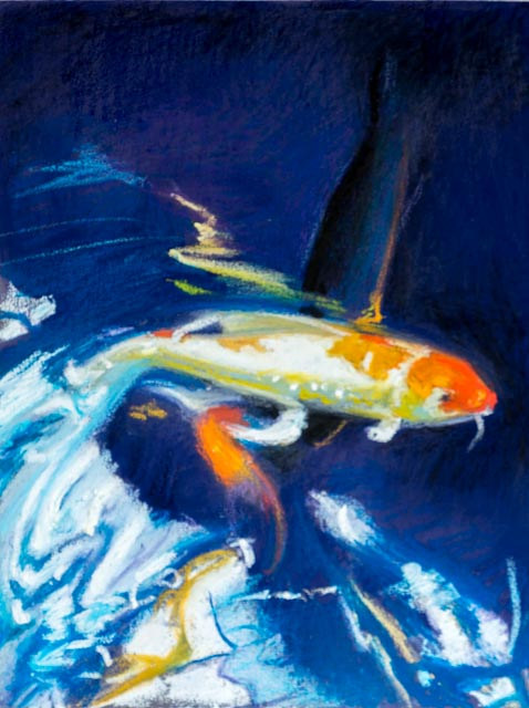 Oil painting Friday Fish XXV by Raymond Noesen