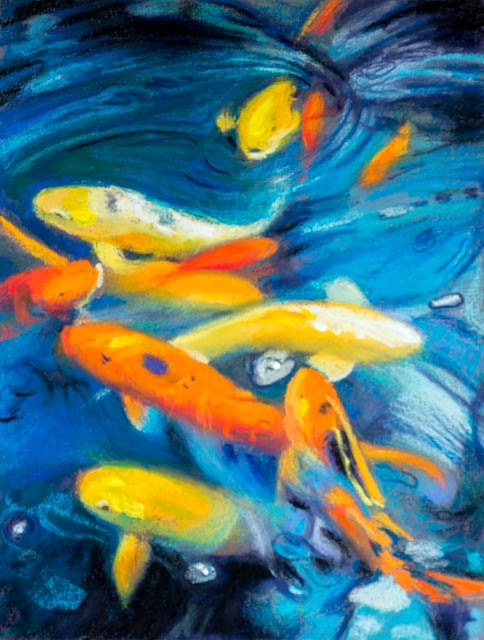 Oil painting Friday Fish XXVI by Raymond Noesen