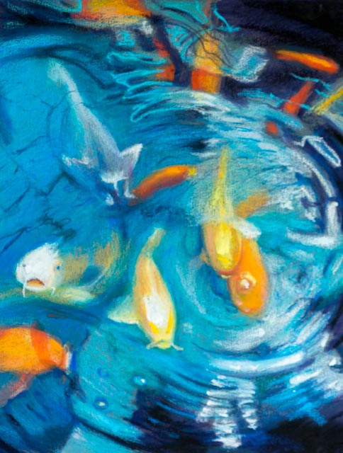 Oil painting Friday Fish XXVIII by Raymond Noesen
