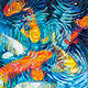 Oil painting Friday Fish XXXII by Raymond Noesen
