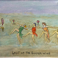 Mixed-media artwork Summer of The Summer WIne by Eveline Wallace