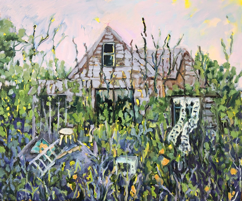 Oil painting What Remains to be Seen  by Edie Marshall
