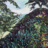 Oil painting - Day 6 The Hillside 8am by Edie Marshall