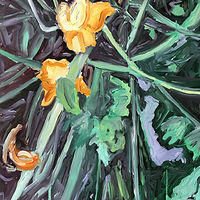 Oil painting Undergrowth #2 by Edie Marshall