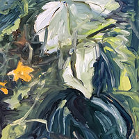 Oil painting Undergrowth #1 by Edie Marshall