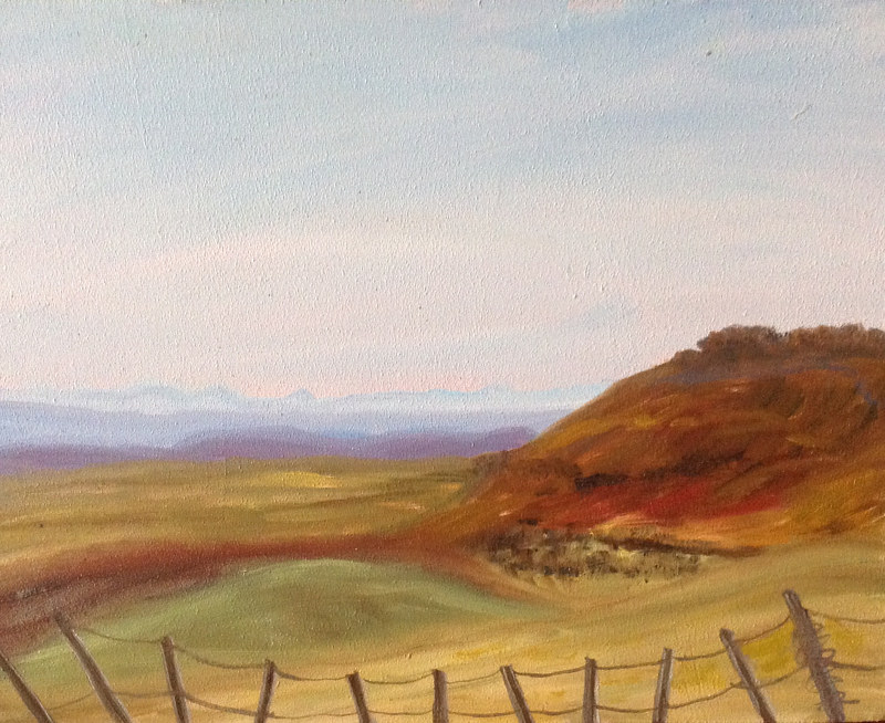 Painting Foothills Ranchlands by Jeanne Urban by Passionate Painters