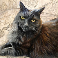 "Acrylic painting ""GIGI"" Preeminence on Paisley by Passionate Painters"
