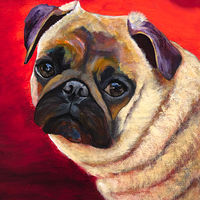 "Acrylic painting ""PUG"" by Passionate Painters"