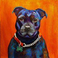 "Acrylic painting ""LUDO"" by Passionate Painters"