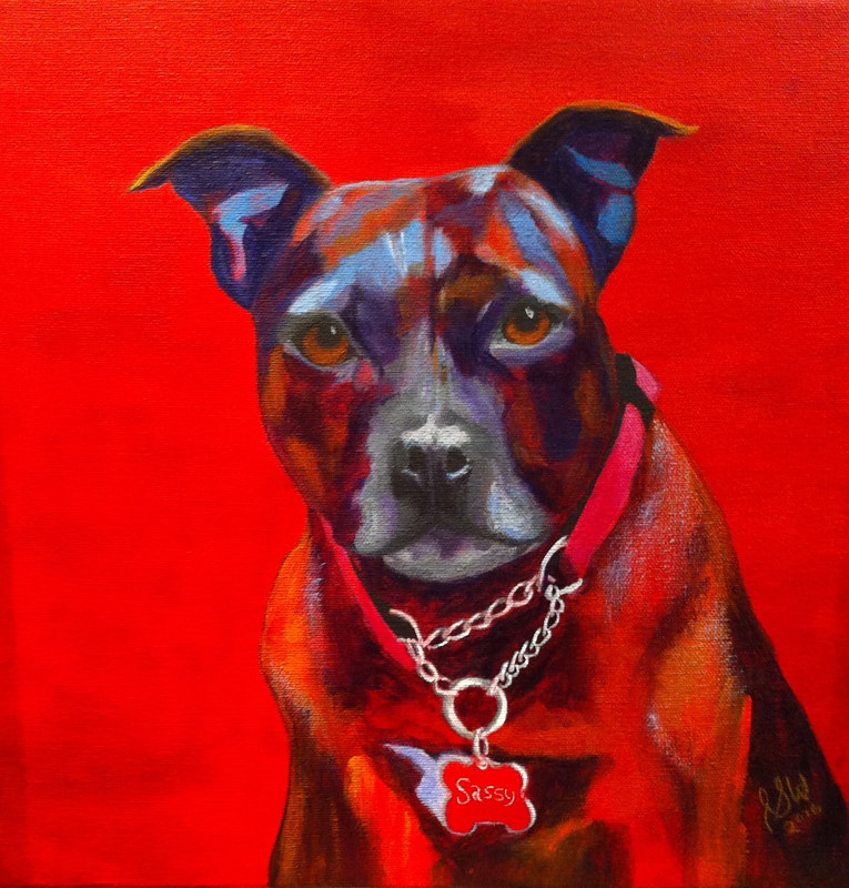 "Acrylic painting ""SASSY"" by Passionate Painters"
