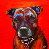 "Acrylic painting ""KASH"" by Passionate Painters"