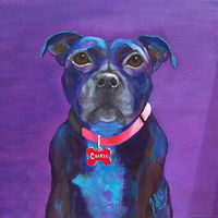 "Acrylic painting ""COOKIE"" by Passionate Painters"