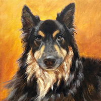 "Acrylic painting ""TOBY"" by Passionate Painters"