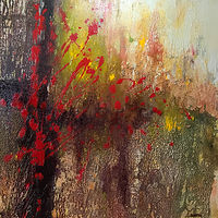 Acrylic painting Red Splash by Diana Harris by Passionate Painters