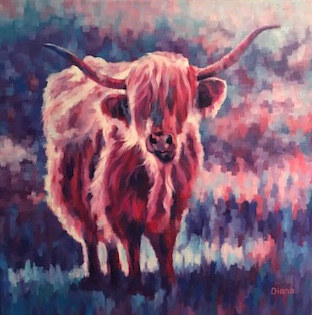 Oil painting Tartan by Diana Harris by Passionate Painters