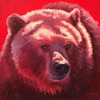 Oil painting Red by Diana Harris by Passionate Painters
