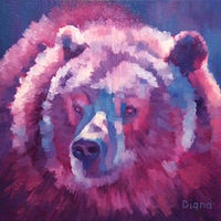 Oil painting Cindy Bear by Diana Harris by Passionate Painters