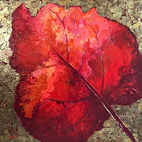 Acrylic painting Fallen Leaf by Diana Harris by Passionate Painters