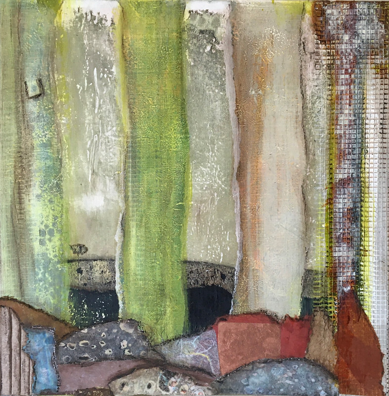 Mixed-media artwork The Boulder We Grow by Erin  O'Brien