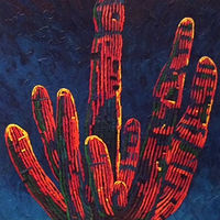 Oil painting Cactus by Diana Harris by Passionate Painters