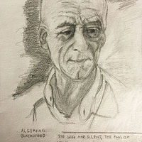 Drawing Algernon Blackwood by Eveline Wallace