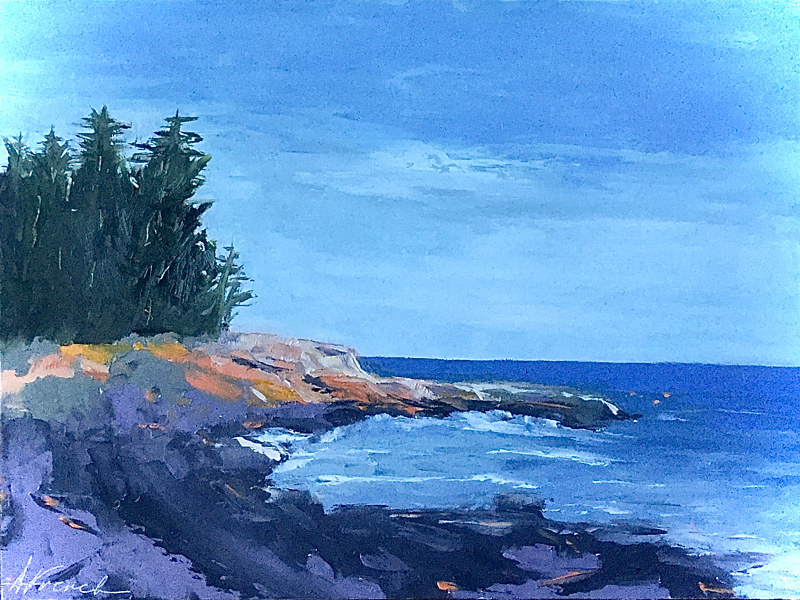 "Oil painting ""Acadia"" by Anne French"