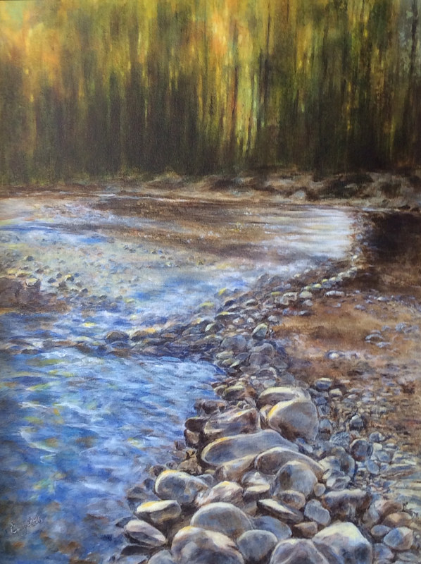 Acrylic painting Follow The Stream by Emily Little by Passionate Painters
