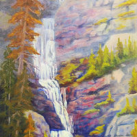 Oil painting Borgeau Falls by Passionate Painters