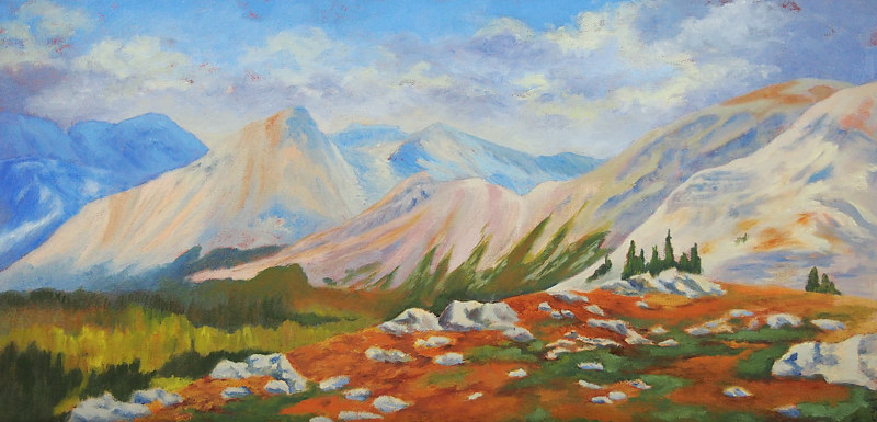 Oil painting Ridge Walking by Brent Ciccone by Passionate Painters