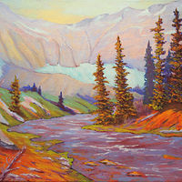 Oil painting Upper Kananaskis by Passionate Painters