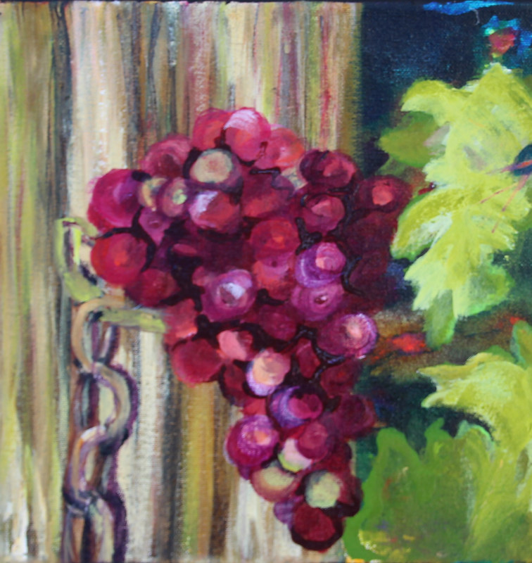 Acrylic painting About to Burst by Donna Carter by Passionate Painters