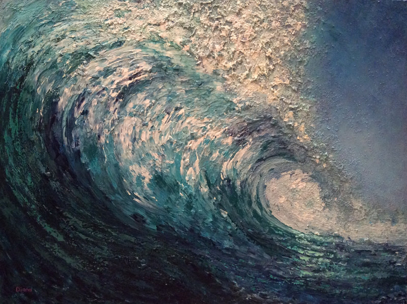 Acrylic painting  Kahuna by Diana Harris by Passionate Painters