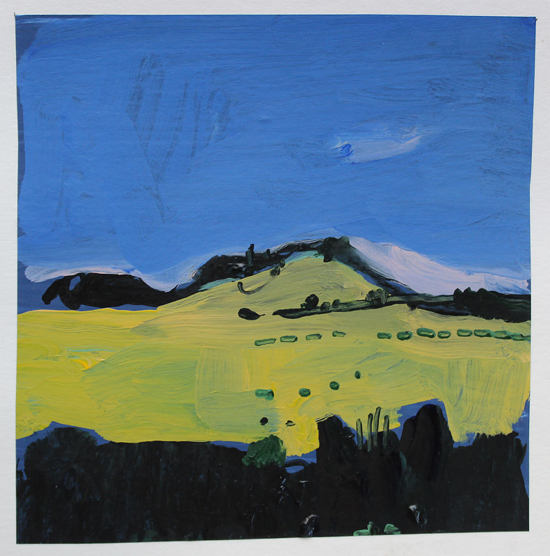 Acrylic painting Yellow Field  by Harry Stooshinoff