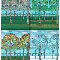 "Print 4 Seasons  15"" x 11""  by Lawrie  Dignan"