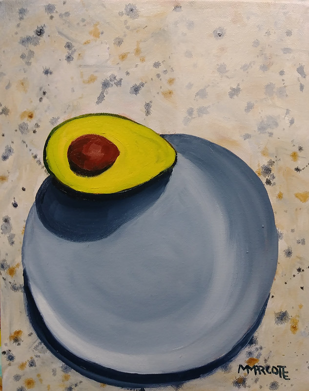 Lonely Avocado on a Monday Morning  by Michelle Marcotte
