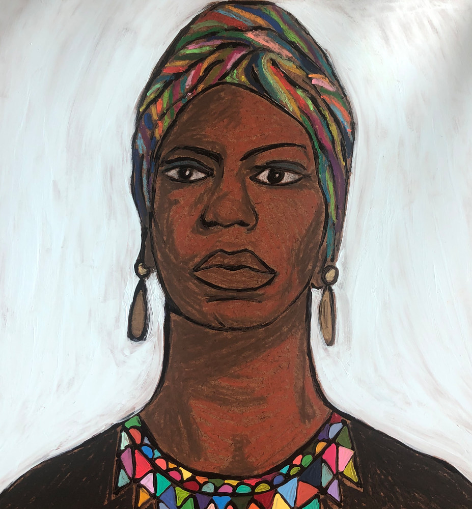 "Print Nina Simone (I Wish I Knew How it Would Feel to be Free"" by Kelly Schafer"